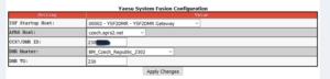 YSF2DMR - nastavení